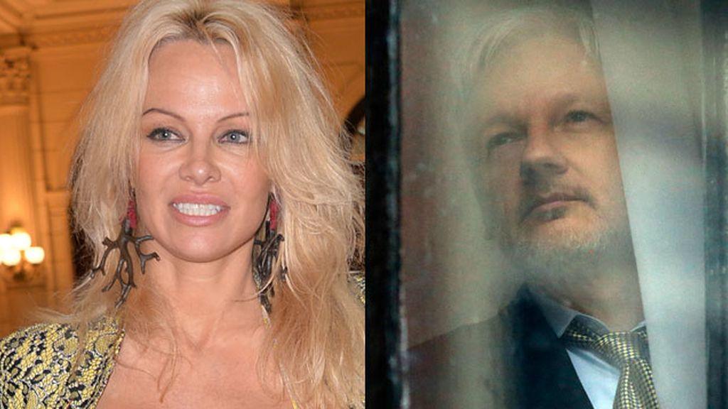 """La abierta declaración de Pamela Anderson al """"sexy"""" Julian Assange"""