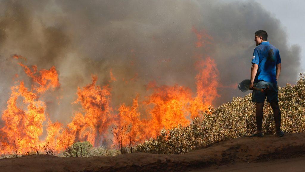 Grave incendio en Chile