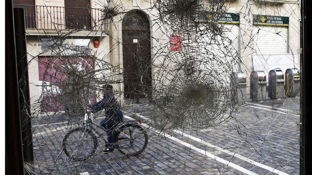 Disturbios callejeros en Pamplona