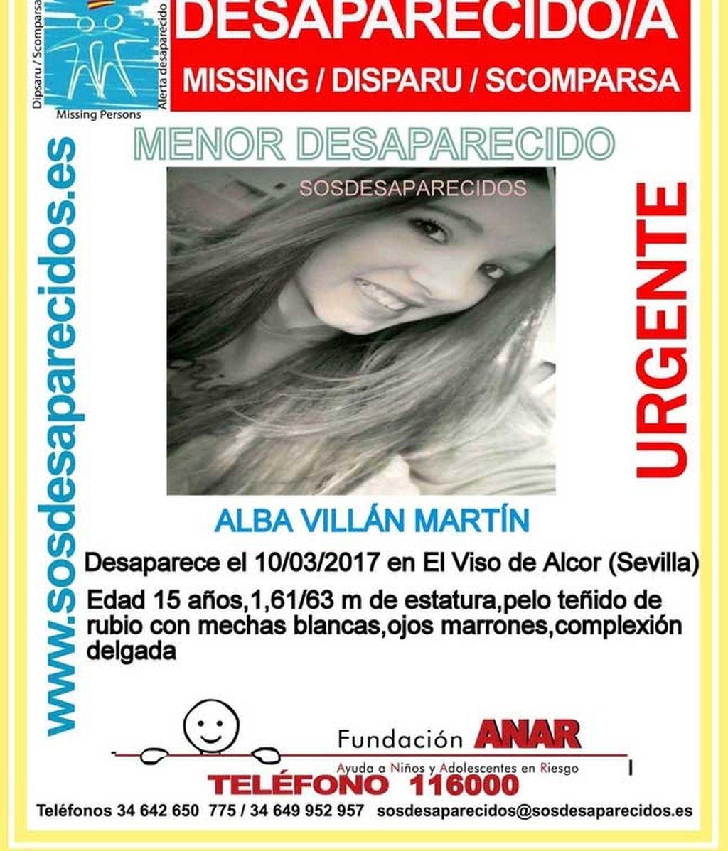 Alba Villán Martín, desaparecida