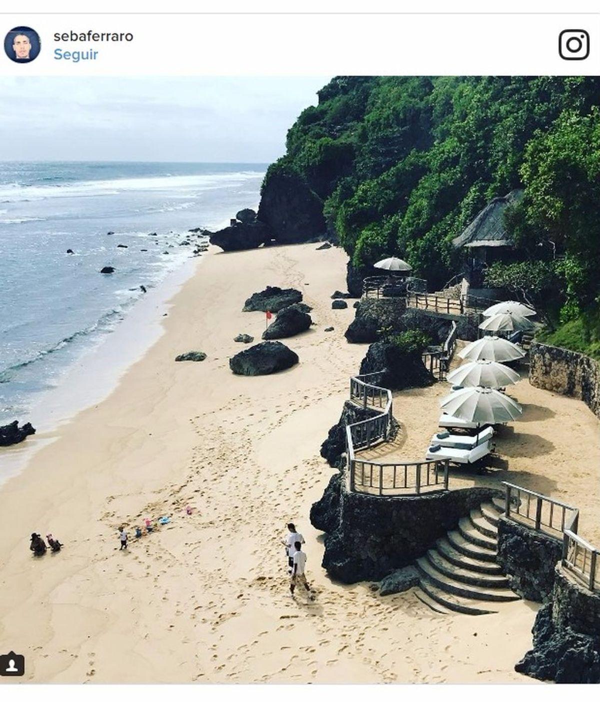 """Foto-envidia de la prenochevieja: Pelayo, en Bali y en buena compañía: """"Estamosfatal ❤️️"""""""