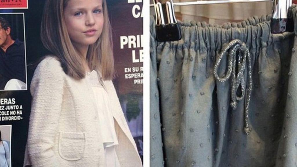 Todo sobre la minifalda de Leonor: cuesta 80 euros y la vende Nagore Aramburu