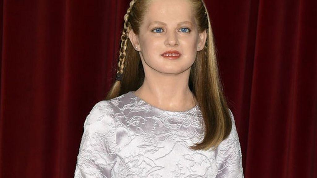 La princesa Leonor ya tiene muñeco de cera... ¡y da mucho miedo!