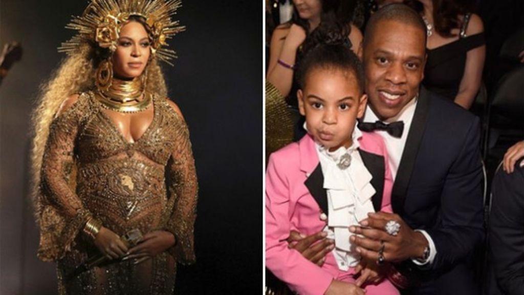 Beyoncé, 'virgen' embarazada sobre una silla en equilibrio: LA ACTUACIÓN de los Grammy