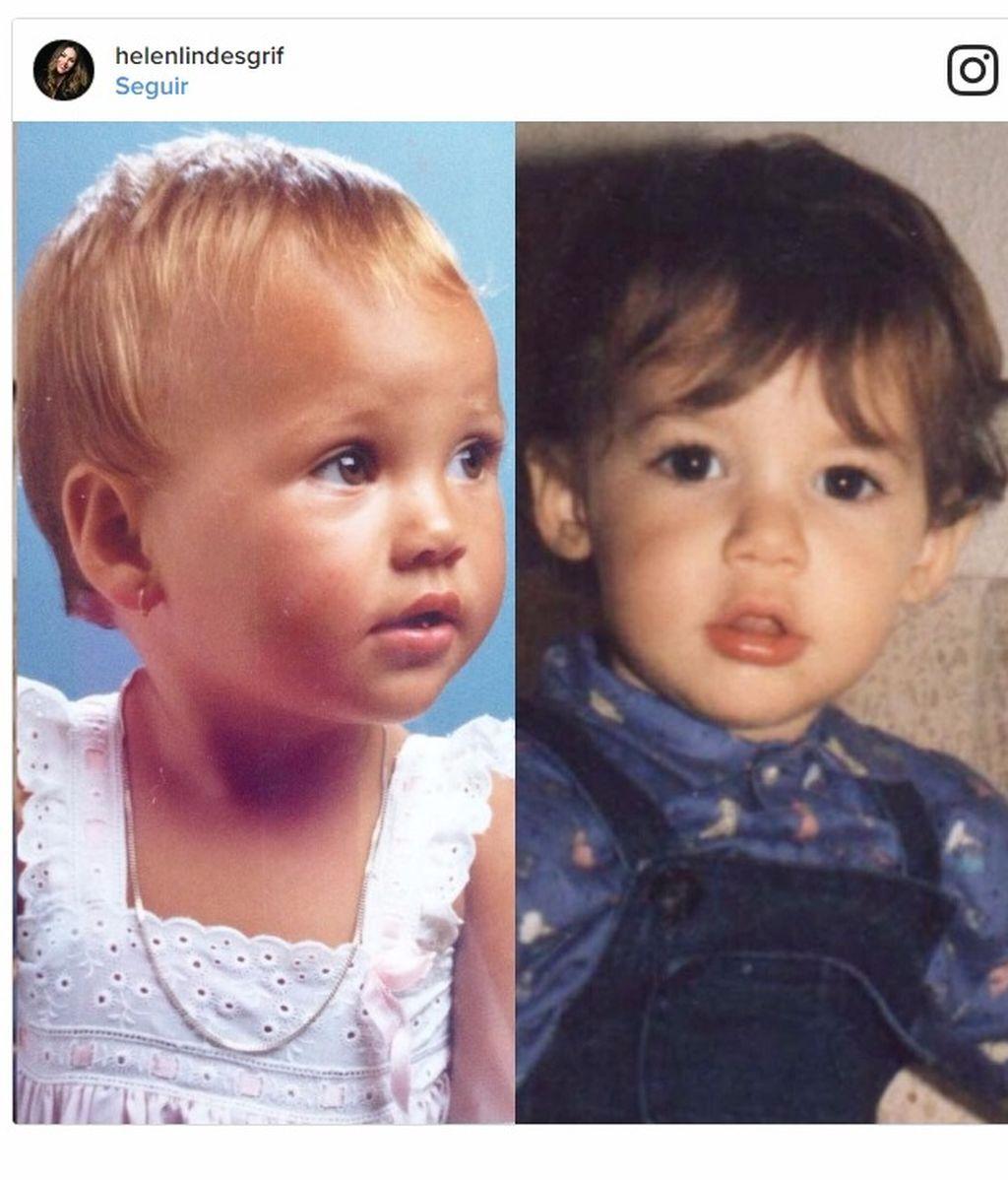 "A baby Helen Lindes o a baby Rudy Fernández ""¿A quién se parecerá más Alan?"""