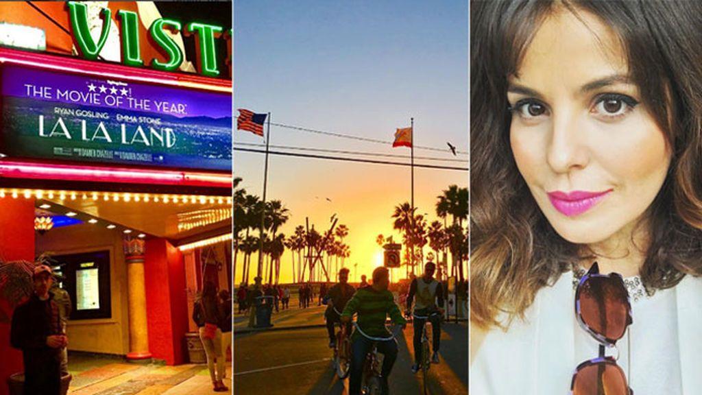 A Venice Beach, al cine a ver 'La la Land'... la vida top de Marta Torné en Los Ángeles