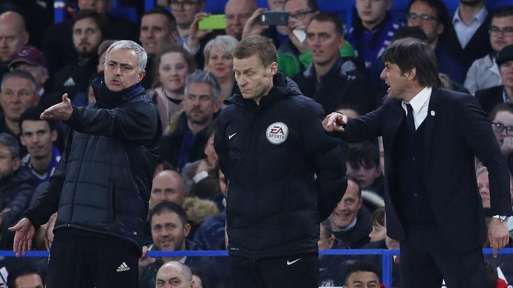 Mourinho y Conte discuten