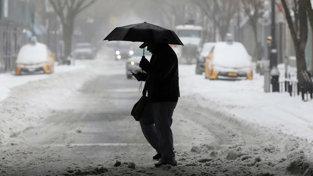 Así es el escenario que ha dejado el temporal de nieve en Nueva York