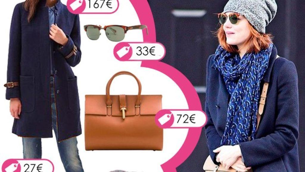 Consigue el look informal de Emma Stone con gorrito beany de la lana