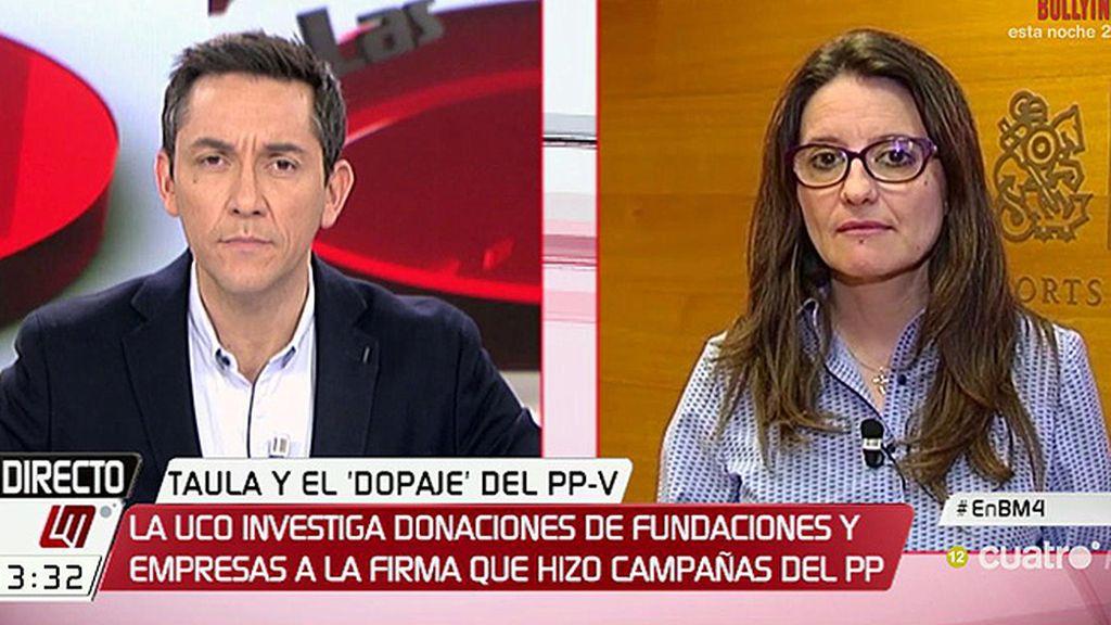 """Oltra, sobre el PP en Valencia: """"Tiraban con pólvora de rey, pero hacían trampas"""""""