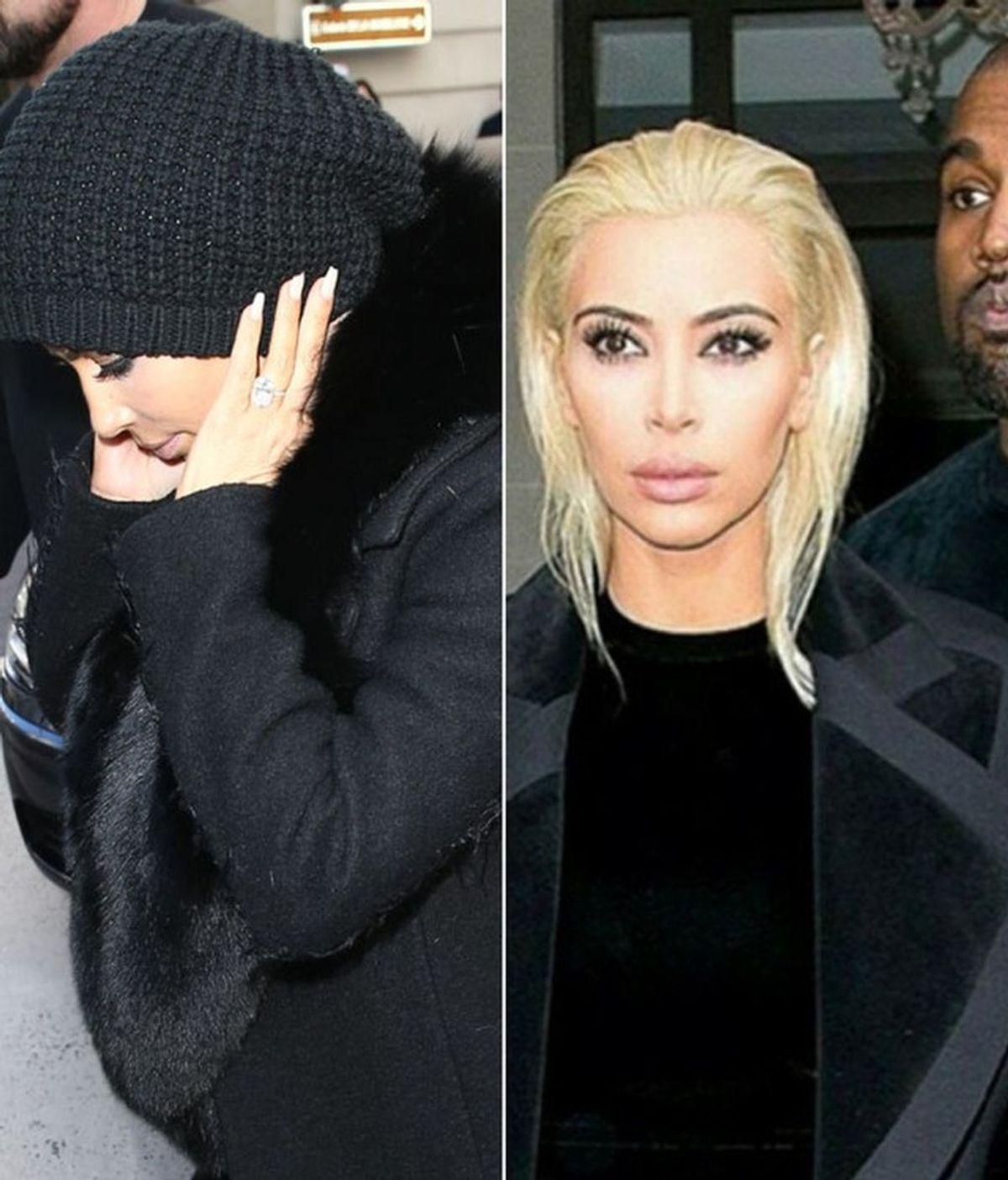 Kardashianadas: lo que ocultaba bajo ese gran gorro negro era... ¡su cabellera rubia!