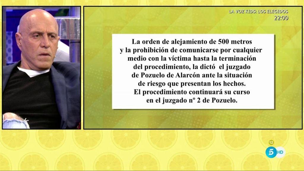 Diego Matamoros detenido: el juez dicta una orden de alejamiento
