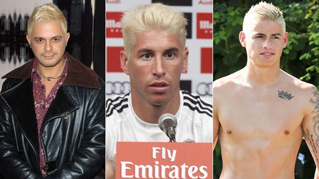 Alejandro Sanz, Ramos y Neymar con el pelo 'amarillo pollo'