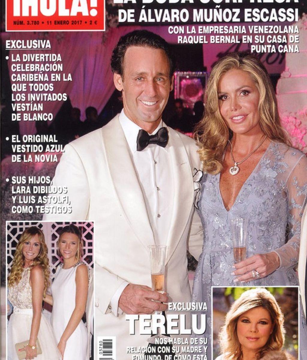 Todos de blanco y en Punta Cana: ¡boda sorpresa de Muñoz Escassi y Raquel Bernal!