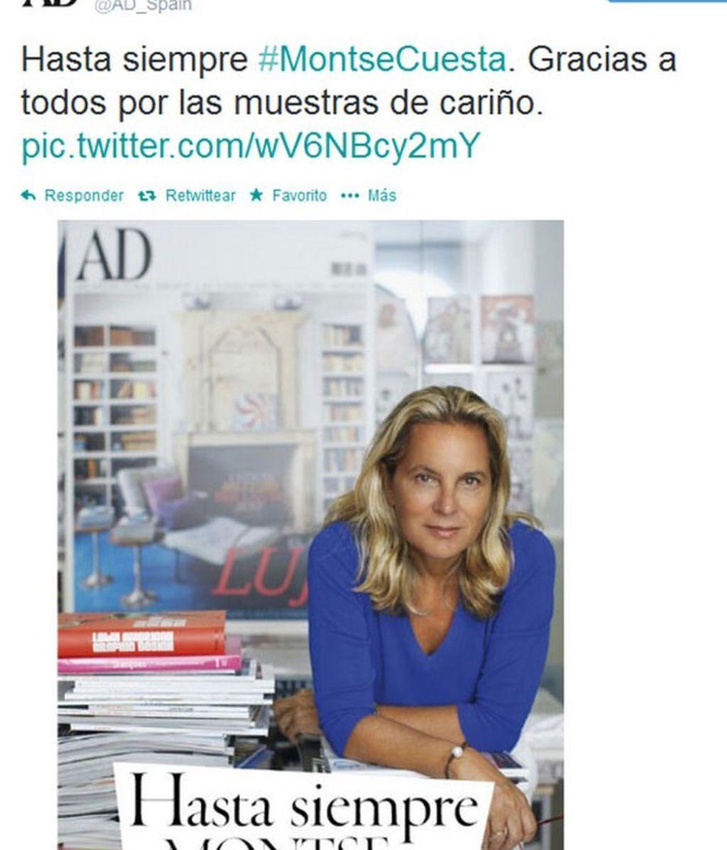 Famosos y diseñadores despiden a Montse Cuesta, la directora de la revista 'AD'