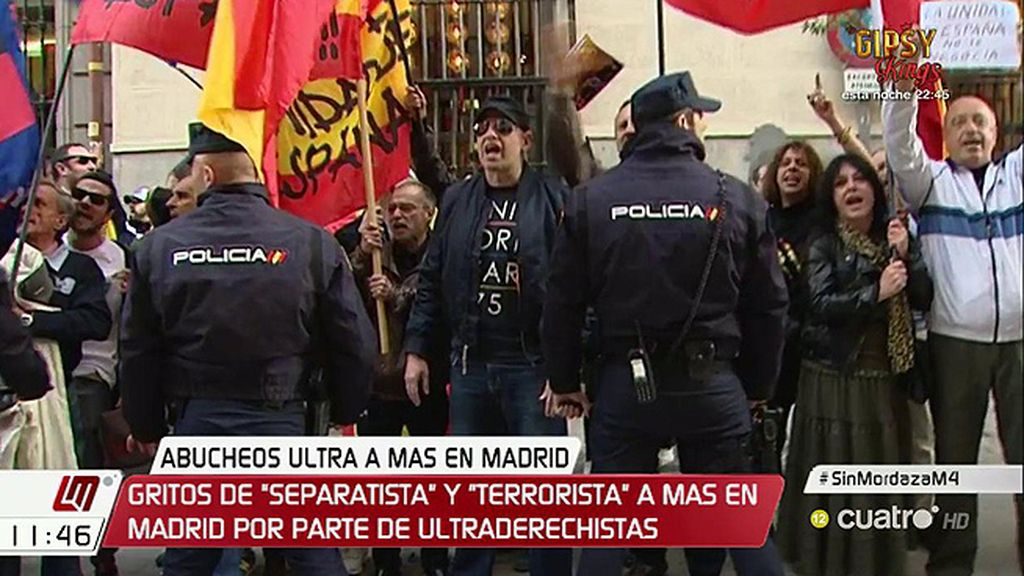 Varios ultraderechistas increpan a Mas