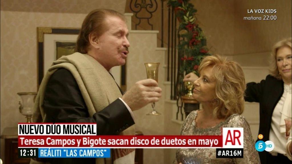Teresa Campos y Bigote Arrocet preparan un disco juntos que saldrá en mayo