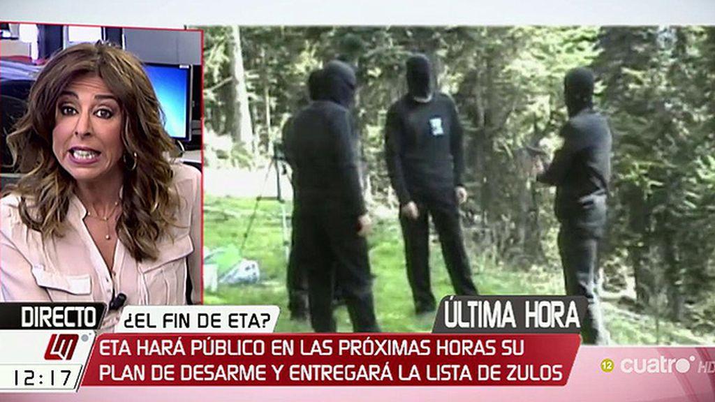 ETA podría anunciar su plan de desarme a través de un vídeo enviado a la BBC
