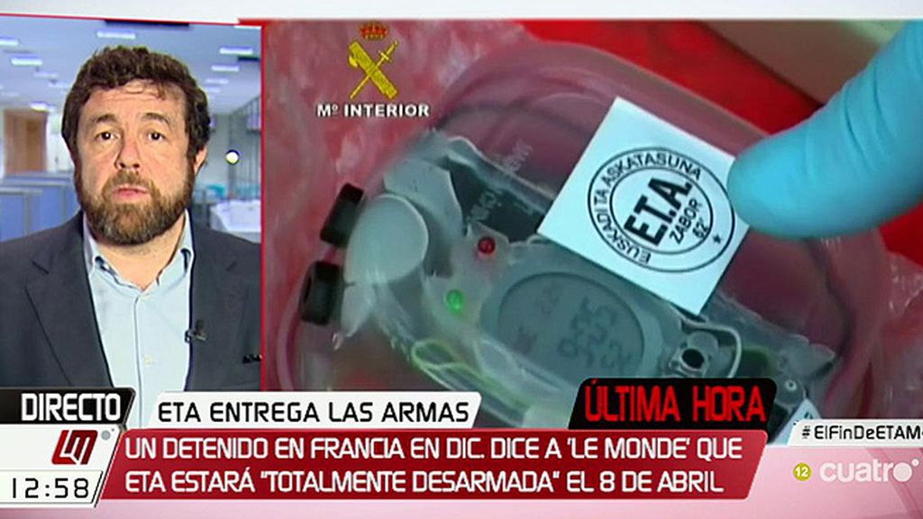 """Miguel Gutiérrez: """"Con entregar las armas no vale, ETA tiene que decir que se disuelve como organización terrorista"""""""