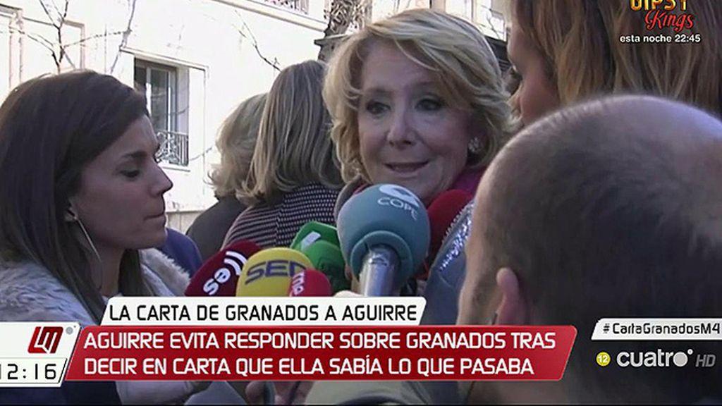 """Aguirre evita responder a la carta de Granados y pide que se imprima """"celeridad"""" al proceso judicial"""