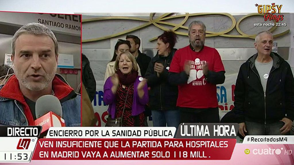 """Alberto San Juan: """"Los hospitales públicos se caen, literalmente, a pedazos"""""""