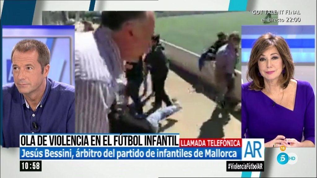 """Jesús Bessini, el árbitro del partido/batalla campal: """"Los peores son los padres"""""""
