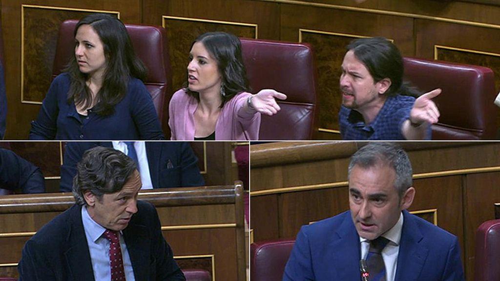 """Tensión de PP y Podemos: Entre acusaciones de """"amenazas"""" y """"matonismo"""""""