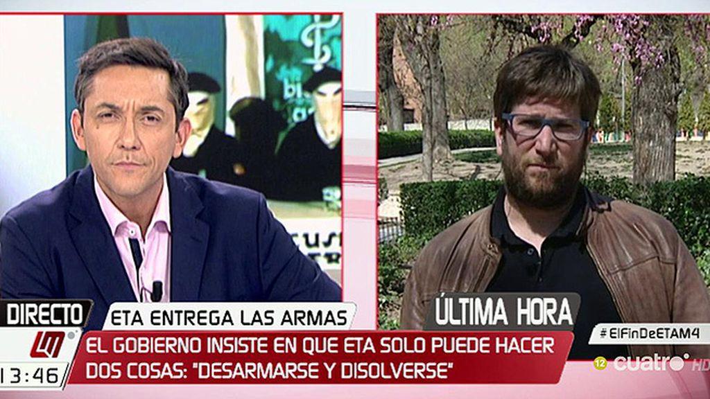 """Urbán, del desarme de ETA: """"Creo que no hay marcha atrás y es una buena noticia"""""""