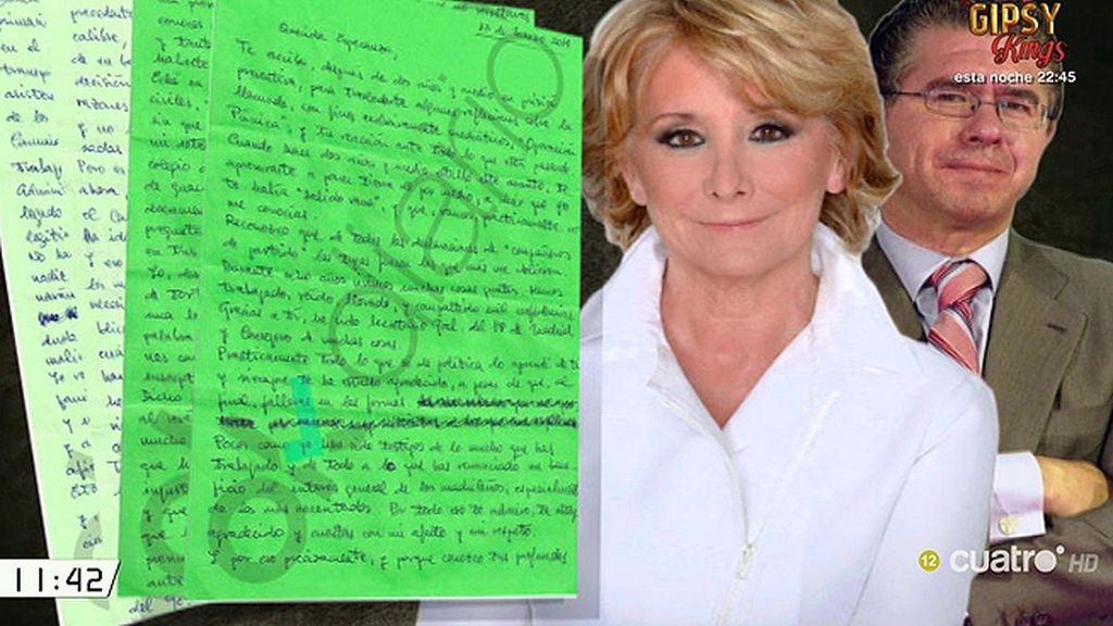 """Francisco Granados, en su carta a Aguirre: """"Nada, en el partido o el Gobierno, se ha hecho jamás sin que tú lo ordenaras"""""""