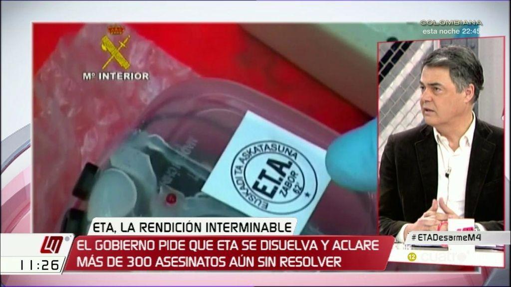 """Carlos Rojas: """"Se tiene que cumplir la ley y ETA tiene que pedir perdón a las víctimas"""""""