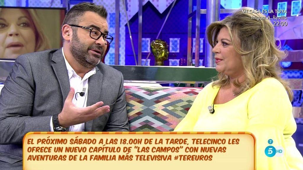 """Jorge Javier Vázquez, a Terelu: """"Estoy en desacuerdo con todos los que piensan que Terelu está aquí por ser hija de"""""""