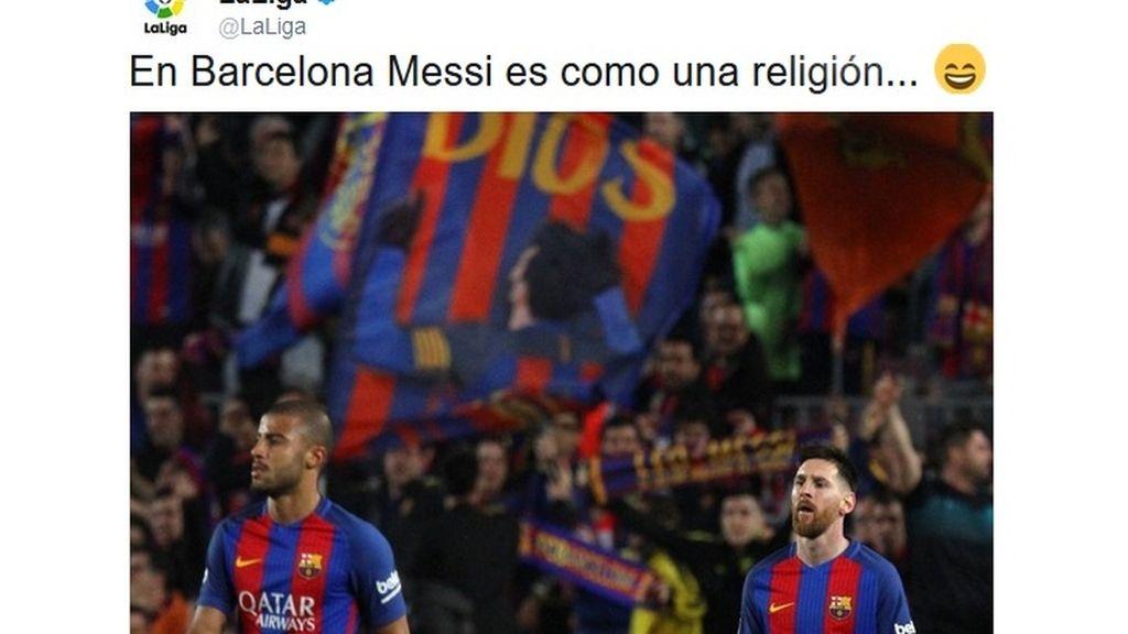 barcelona liga twitter messi