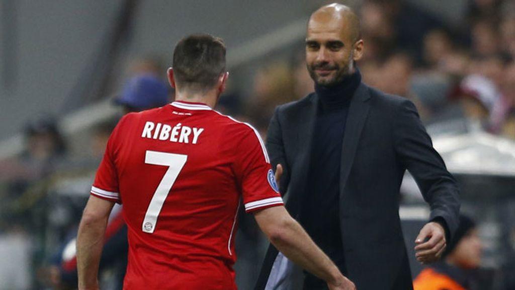 Ribery y Guardiola