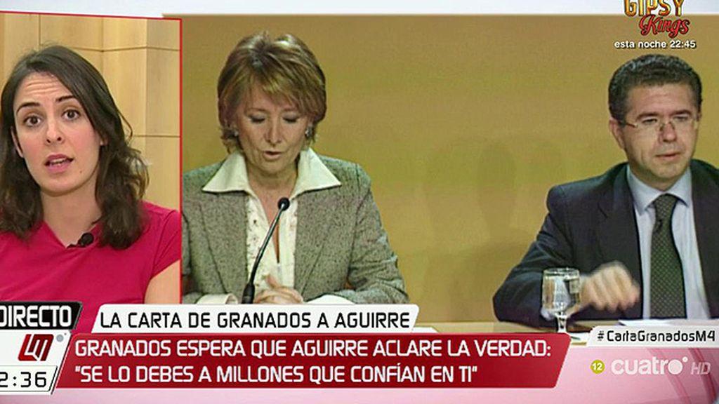"""Rita Maestre: """"Cuando Aguirre inventa una palabra o echa a rodar un insulto está tratando de huir"""""""