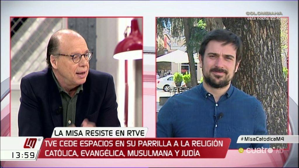"""Ramón Espinar, sobre la misa en la televisión pública: """"Hay que abrir un debate con sosiego y respeto y no a golpe de titular"""""""