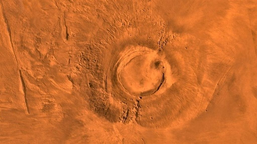 Volcán gigante marciano Arsia Mons