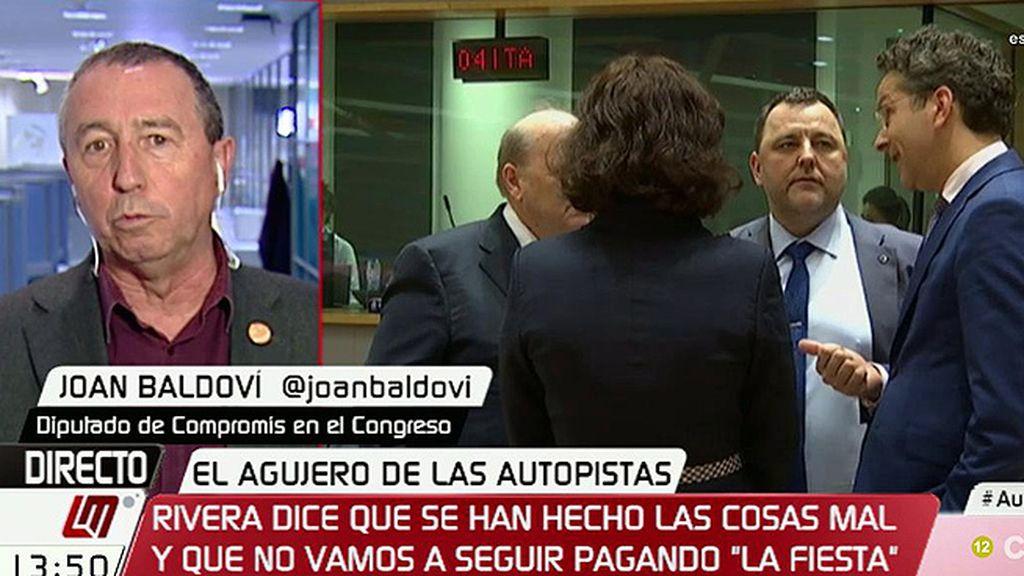 """Joan Baldoví: """"Lo que ha dicho Dijsselbloem es inconveniente e insultante"""""""