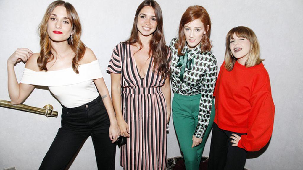 Silvia, Elena, Ana y Angie, las chicas de moda