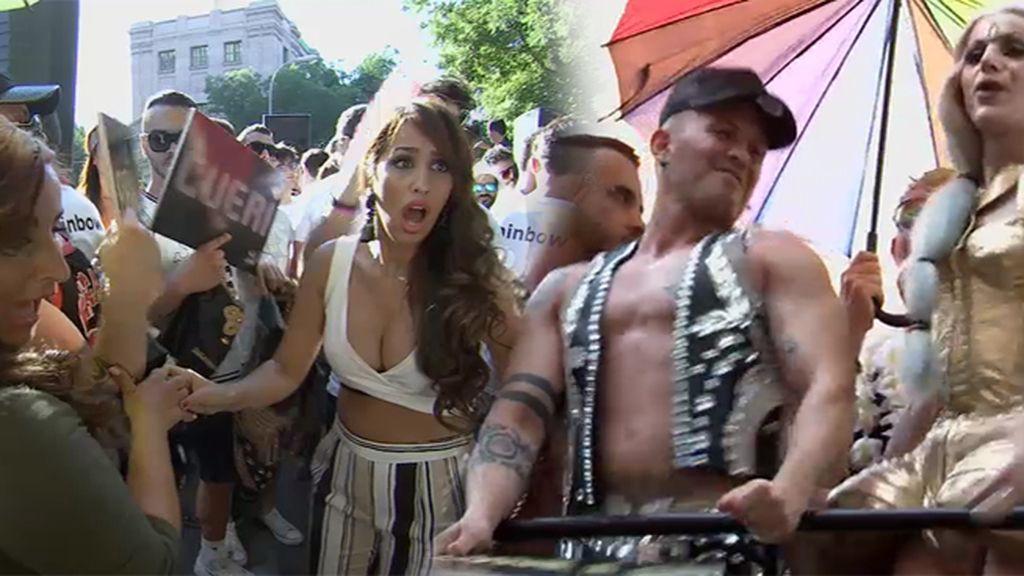 El 'brilli cueri' de las Salazar se cuela en una de las carrozas del Orgullo Gay