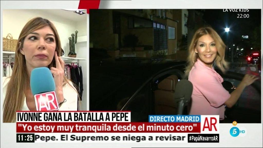 "Ivonne Reyes gana la batalla a Pepe Navarro: ""Todo cae por su propio peso"""