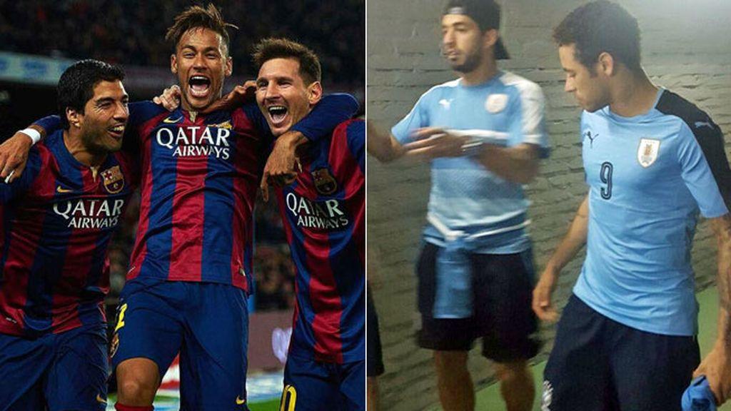 Neymar, Luis Suarez, Barça