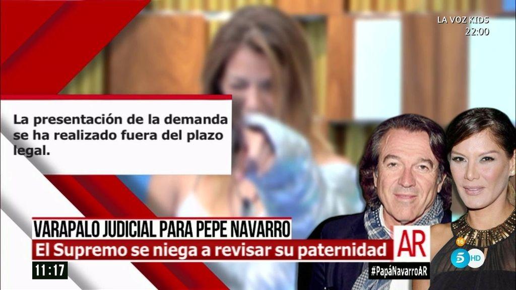 El Tribunal Supremo se niega a revisar la parternidad de Pepe Navarro