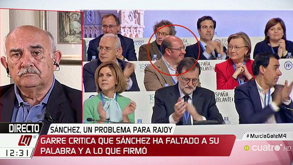 """Garre, expresidente de Murcia: """"Esto es un auténtico carnaval político"""""""