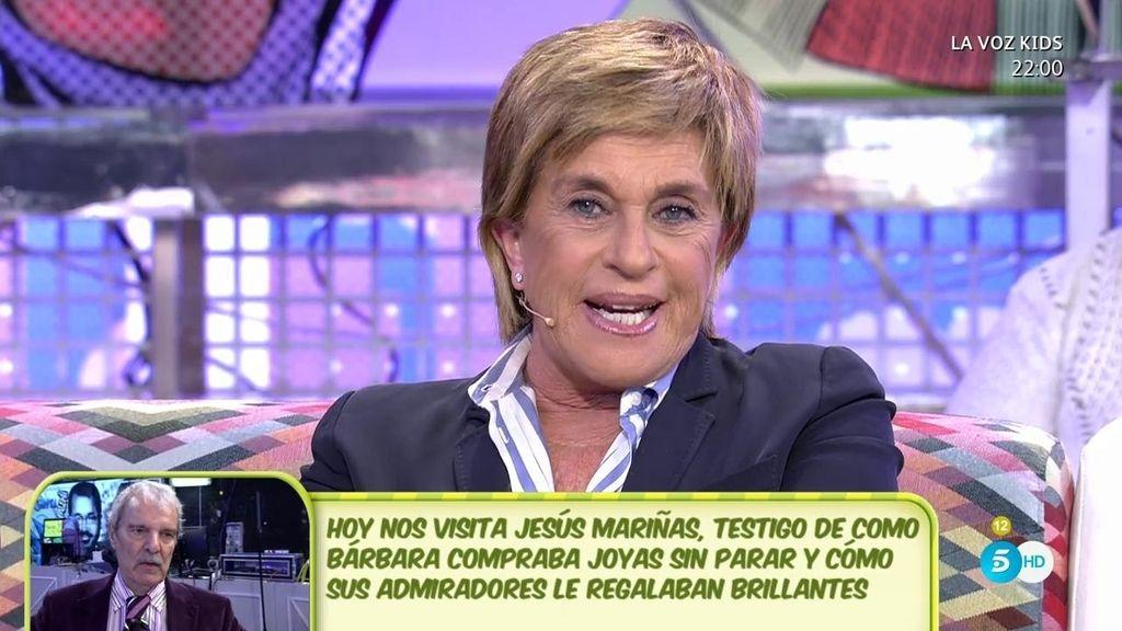 """Chelo, de Bárbara Rey: """"Su marido le regaló un lingote de oro cuando se casaron"""""""