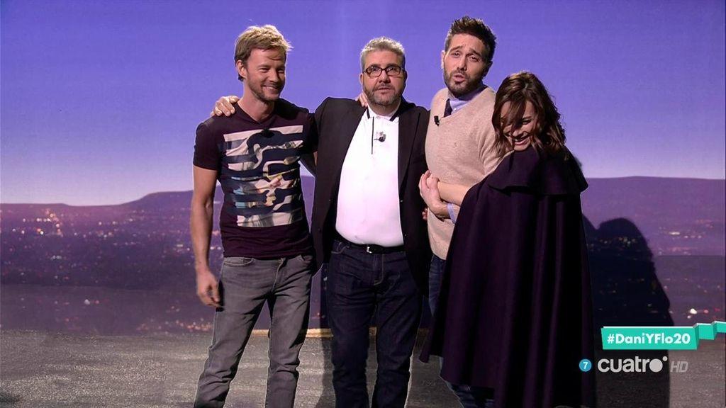 Eloy Azorín y Begoña Maestre se atreven con el reto del chiste en 'Dani&Flo'
