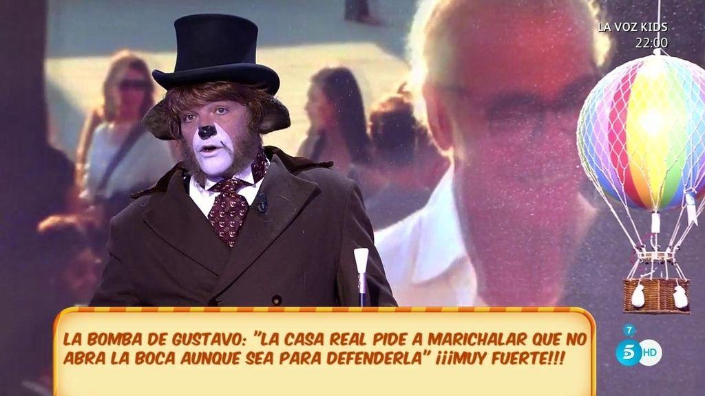 """Gustavo: """"La Casa Real pide a Marichalar que no abra la boca, ni para defenderles"""""""