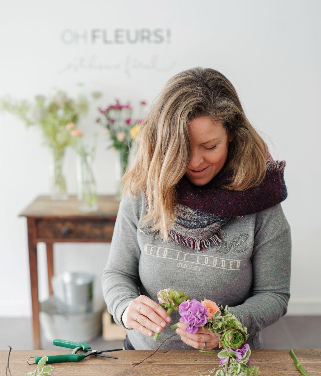 Curso de corona de flores