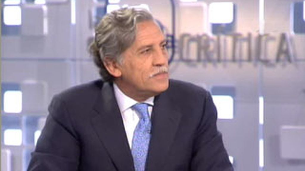 Diego López Garrido durante la entrevista en La Mirada Crítica. Vídeo: Informativos Telecinco