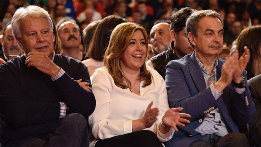 Los presidentes del PSOE claman por la unidad con Susana Díaz al frente