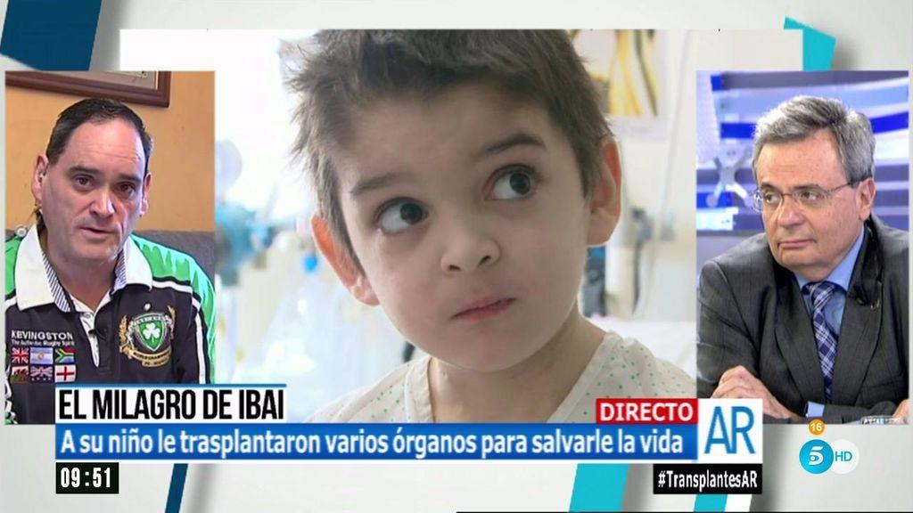 """El padre de Ibai, emocionado: """"Sin el doctor Matesanz, mi hijo no estaría aquí"""""""